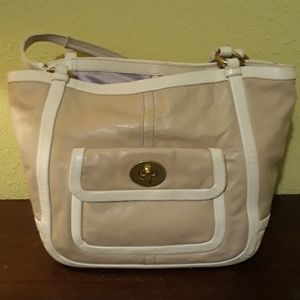 Coach pre owned bag leather